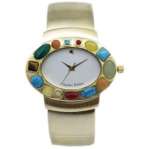 Charles Delon Casual Style Gold Watch